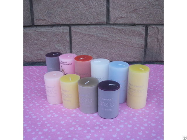 Wholesale Jelly Color Fruit Scented Candle Decorative Romantic Wedding Pillar Candles