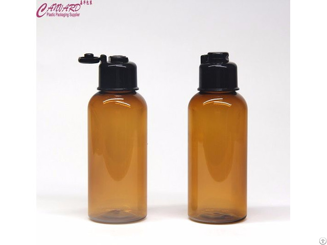 100ml Brown Empty Lotion Bottle With Cap