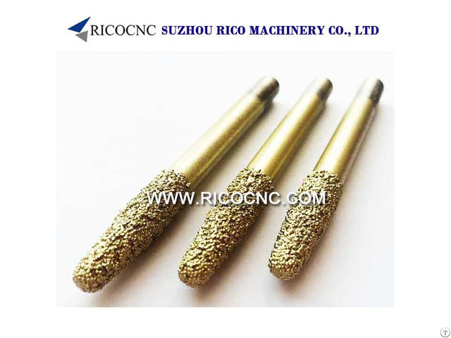 Conical Brazing And Sintered Diamond Router Bits For Marble Granite Stone 3d Carving