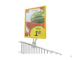 Supermarket Poster Display Frame Holder With Plastic Clip