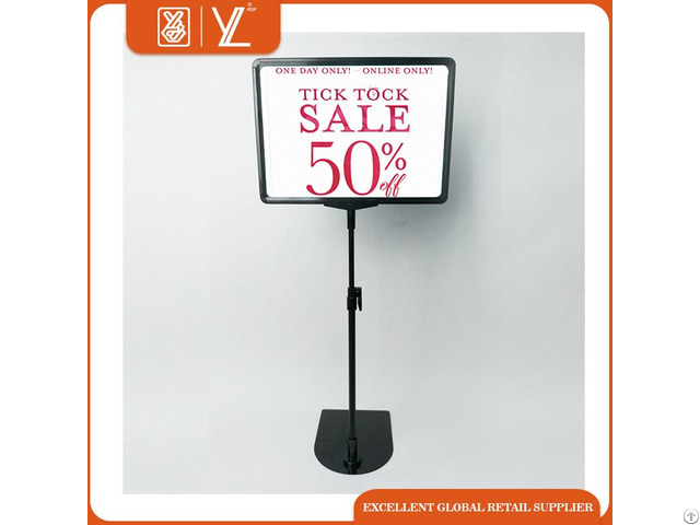 Wholesale Store Metal Advertising Display Stand With A4 Poster Frame