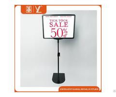 Plastic Sign Holder Showcase Stand For Price Label Hlder