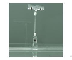 Plastic Hanging Sign Holder Clip For Shelf Price Tag