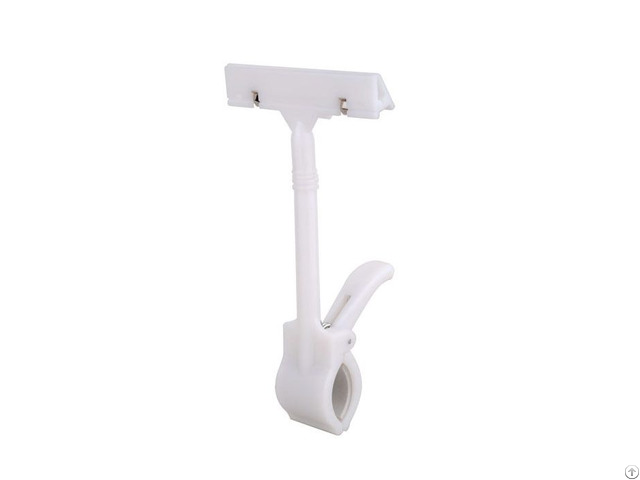 Retail Store Pop Plastic Thumb Base Price Tag Sign Card Holder