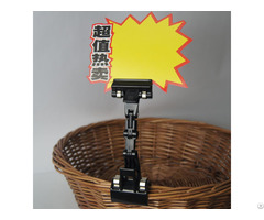 Plastic Price Tag Holder For Advertising Pop Clip