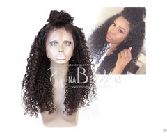 Curl Natural Indian Hair Full Lace Wigs On Sale
