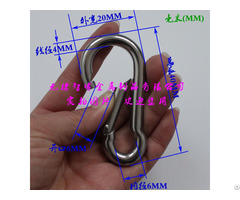 Wholesale Stainless Carabiner Spring Parachute Snap Hooks