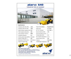 Alano640 Ride On Industrial Sweeper