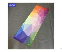 Mato Non Slip Organic Folding Custom Printed Yoga Mat Manufacturer