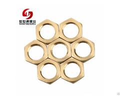 Hexagon Weld Brass Insert Machine Hex Nut