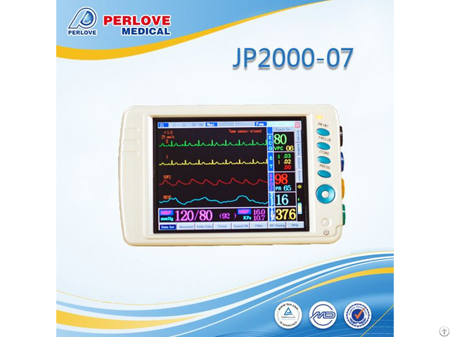 Multi Ecg Waveforms Patient Monitor Jp2000 07 With Various Parameters