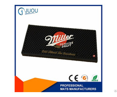 Promotional Embossing Advertsing Logo Eco Friendly Soft Pvc Rubber Bar Mat