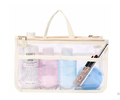 Large Capacity Travel Pouch Cosmetic Storage Bag Organizer With Multi Pocket