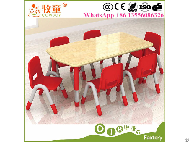 Guangdong Cowboy Preschool Furniture Kids Tables And Chairs For Sale
