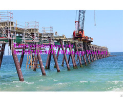 Marine Coastal Tubular Steel Pipe Pontoon Support Piles