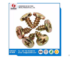 Color Zinc Plated Pan Philip Head Self Tapping Screws