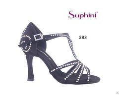 Suphini Black Salsa Latin Dance Shoe