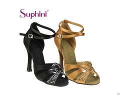 Suphini Crystal Rhinestone Latin Bachatadance Shoe