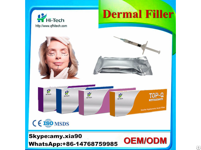 Top Q Super 1ml 2ml Cross Linked Hyaluronic Acid Dermal Filler Safety For Shaping Facial Contours