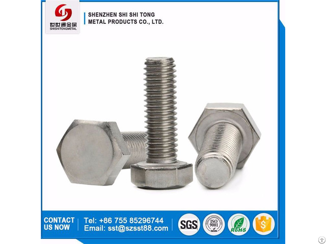 China Supply Gigh Quality Full Threaded Carbon Steel Hexagon Head Bolts