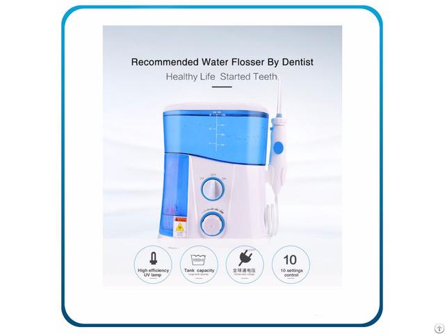 Uv Sanitizer Dental Oral Irrigator With 1000ml High Volume Water Covered Tank