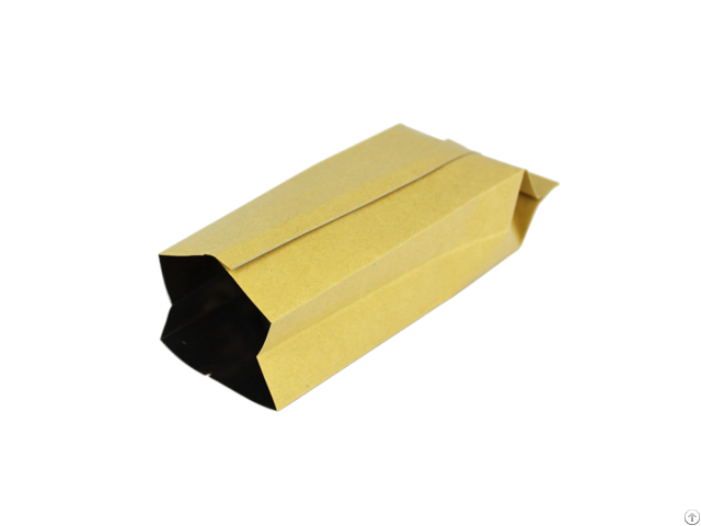 Food Packaging Side Gusset Aluminum Foil Lined Kraft Paper Coffee Bags