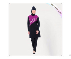Striped Hijab Swimsuit