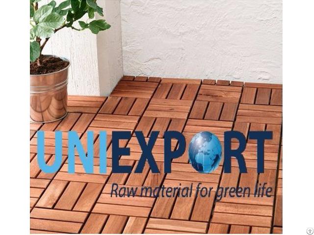 Interlocking Removable Acacia Outdoor Decking Floor Tile