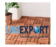 Interlocking Removable Acacia Outdoor Decking Floor Tile