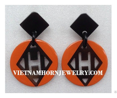 Lacquer Horn Earrings