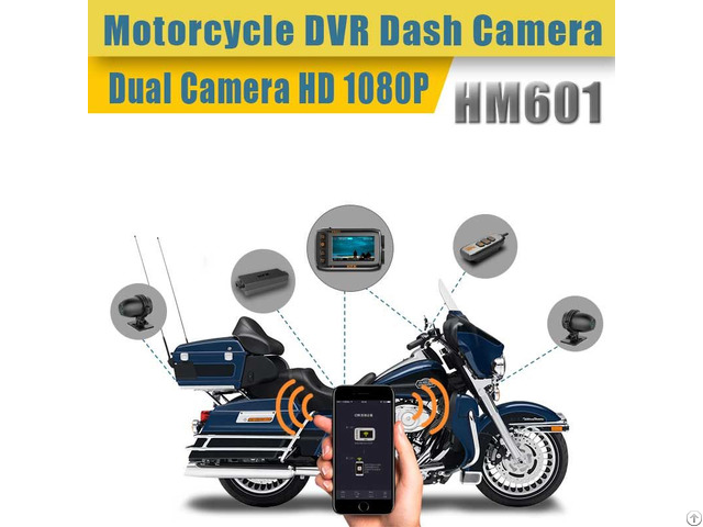Hfk Hm601 Ip67 Waterproof Motorcycle Dvr Dash Camera With Dual 1080p Hd Lens