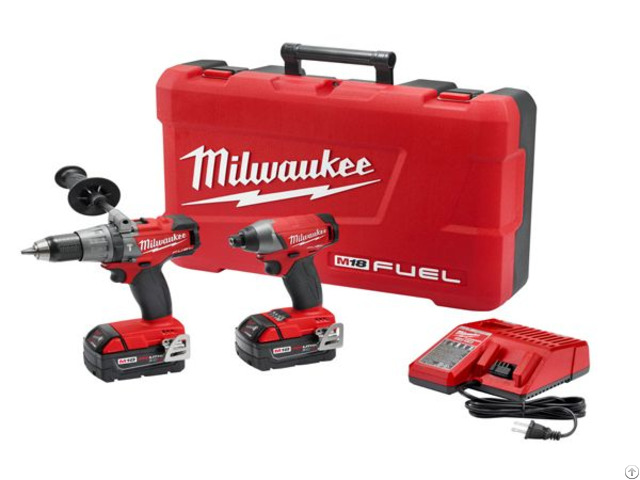 Milwaukee 2897 22 M18 Fuel Cordless Li Ion 2 Tool Combo Kit Drill Impact