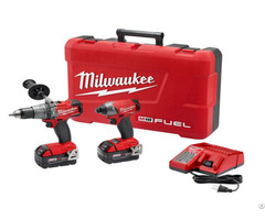 Milwaukee 2897 22 M18 Fuel Cordless Li Ion 2 Tool Combo Kit Drill Impact