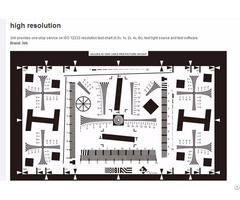 4x Iso12233 Standard 5 Megapixel Cctv Camera Test Charts With High Resolution
