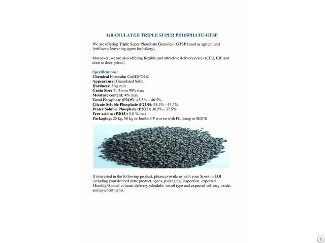 Triple Super Phosphate Granules
