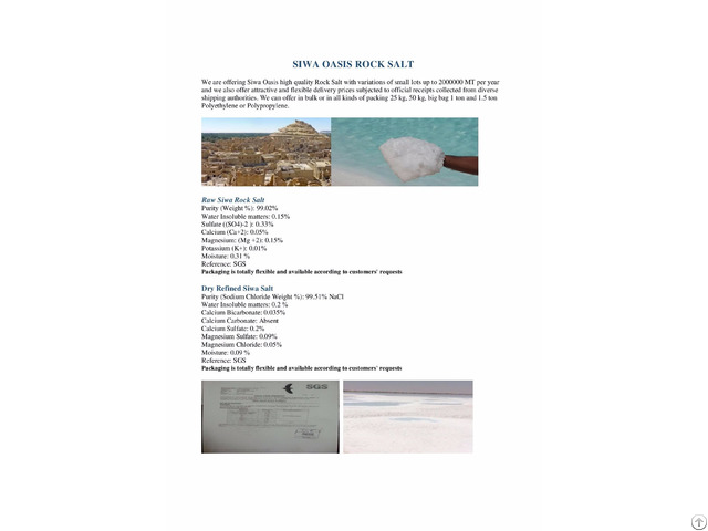 Siwa Rock And Refined Salt