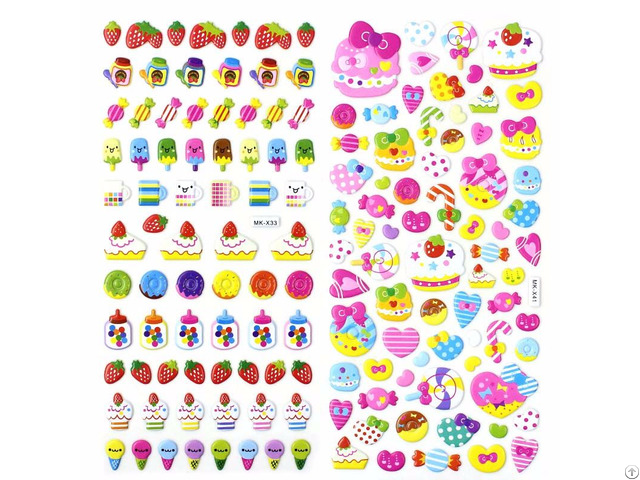 Fruits 3d Puffy Stickers