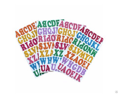 Foam Glitter Alphabet Stickers