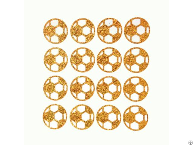 Boys Football Glitter Stickers