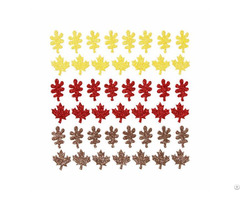 Maple Leaft Color Glitter Stickers