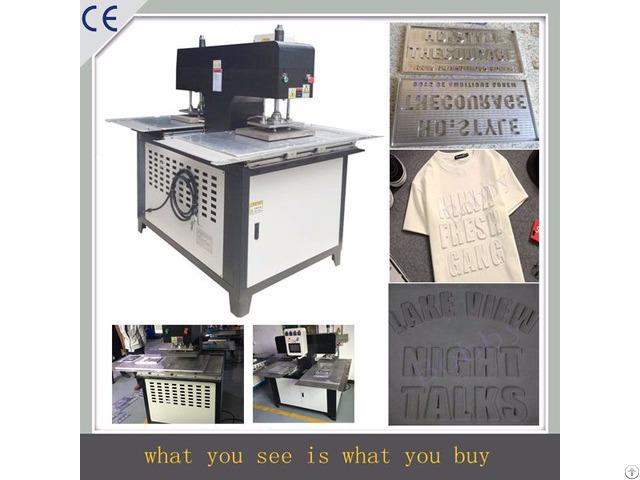 Silicone Logo Moulding Machine Onto Clothes