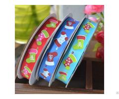 Wholesale Silk Screen Printed Merry Christmas Gift Decorative Ribbon