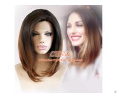 Short Ombre Synthetic Lace Front Wig