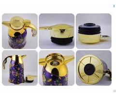 Wonderful New Design Pattern Glass Inner Vacuum Coffee Jug Thermos Flask