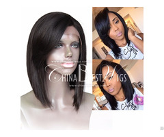 Short Side Bang Lace Front Wig