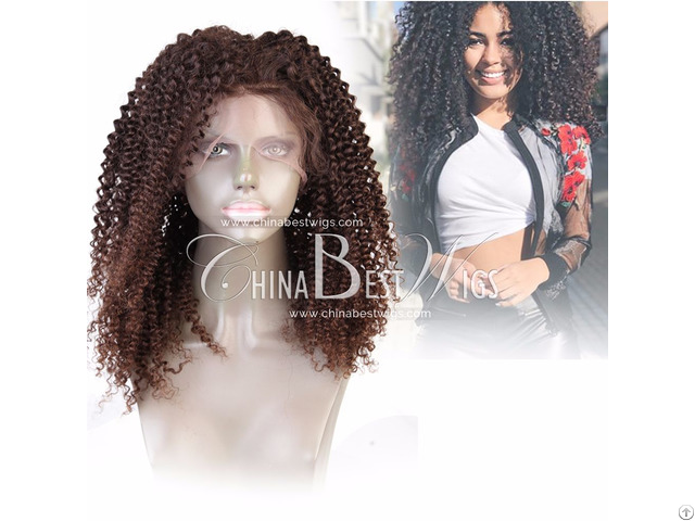 Brown Tight Curl Lace Wig