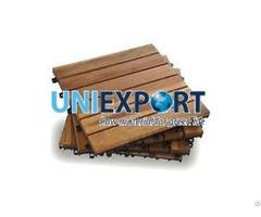 Six Slat Acacia Interlocking Deck Tile