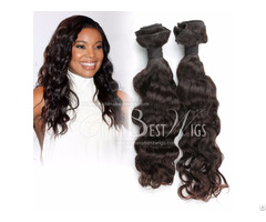 Wavy Middle Length Hair Weft Extensions