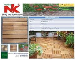 Eco Friendly Interlocking Outdoor Flooring Deck Tile