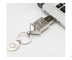 Real Estate Custom Metal House Usb Pen Drive Housing Shape